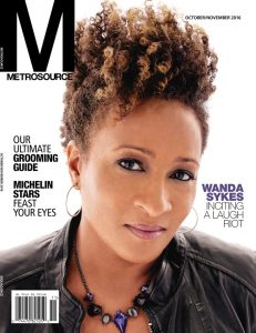 Metrosouce magazine cover , wanda sykes, LGBTQ media, Davler Media Group